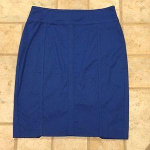 Ann Taylor Astor blue pencil skirt